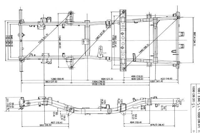 Das Offroad Forum: Gibt es eine Zeichnung des SJ40T Rahmens